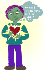 cropped gift heart